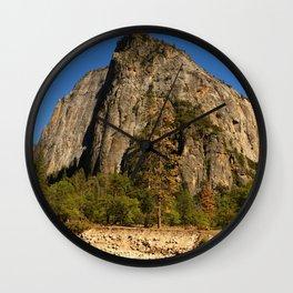 Peaceful Yosemite Valley Scene Wall Clock