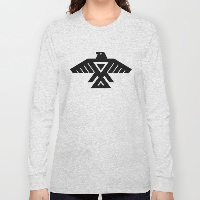 Native American Thunderbird Symbol Flag Long Sleeve T Shirt By