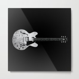 Jazz Guitar Metal Print