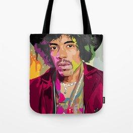 Jimi Hendrix Illustration Tote Bag