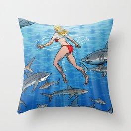 Below The Surface! Throw Pillow