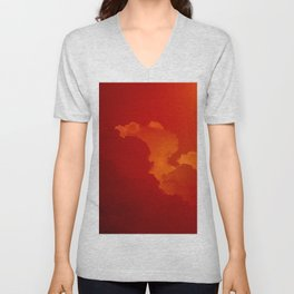 Beauty in the Sky- Photo of clouds in a sunset Unisex V-Neck