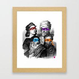 Ninja Masters Framed Art Print