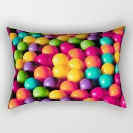 Rainbow Candy: Gumballs Rectangular Pillow