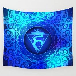 Throat Chakra Mandala - WO Wall Tapestry