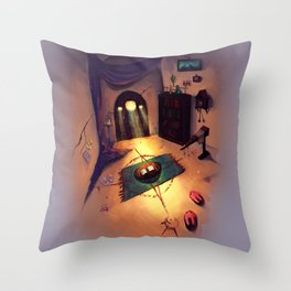 The Magician's Room Throw Pillow