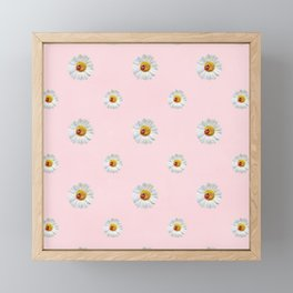 Flower Flowers Daisies in love - pink floral pattern Framed Mini Art Print