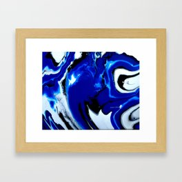 Superman Blue Framed Art Print