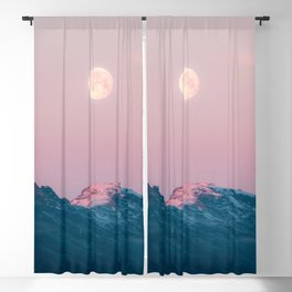 Moon and the Mountains – Landscape Photography Blackout Curtain