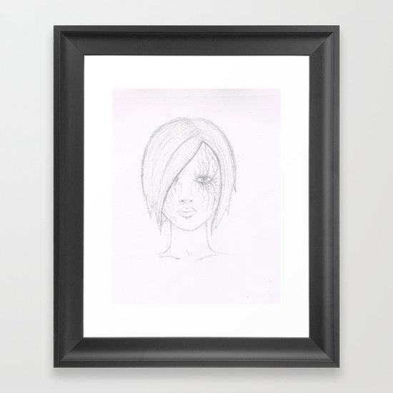 Another Girl. Framed Art Print