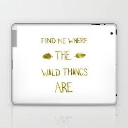 Wild Things - Gold Laptop & iPad Skin