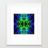 neon Framed Art Prints featuring Neon by Assiyam