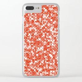 Tangerine Tango Pixels Clear iPhone Case