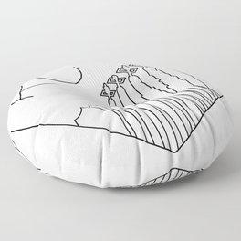 Kansas City - Minimalist Skyline Heart Floor Pillow