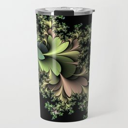 Kale Leaves Fractal Travel Mug
