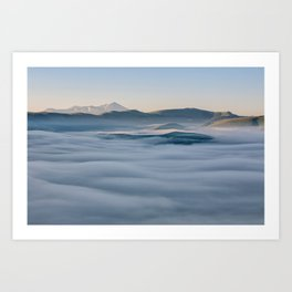Above the fog, Castelluccio, Italy Art Print