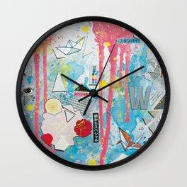 Pink Moon Walk Wall Clock