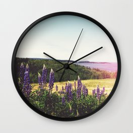 Lupine Flowers of the Maritimes Wall Clock