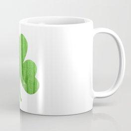 woodgrain shamrock Coffee Mug