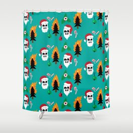 Chaos Christmas Shower Curtain