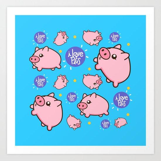 Piggies Art Print