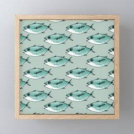 Shoal of bluefin tuna Framed Mini Art Print