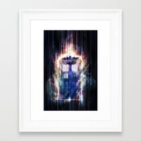tardis Framed Art Prints featuring Tardis by jasric