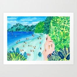 Glassy Island Art Print