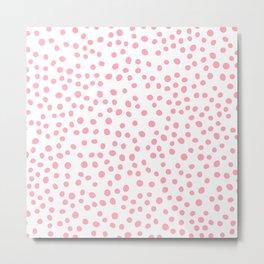 Hot Pink doodle dots Metal Print