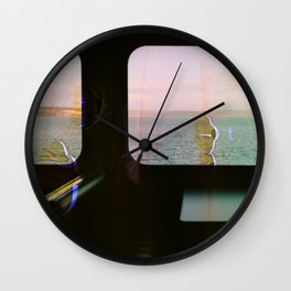 Colorful Ferry Views Wall Clock
