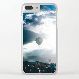 Albuquerque Balloon Fiesta Sunrise Clear iPhone Case