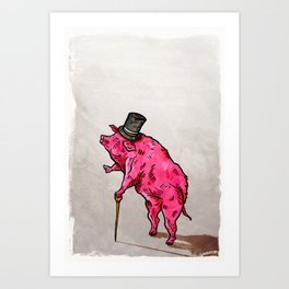 A classic pork Art Print