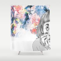 creativity Shower Curtains featuring Creativity by p-antiscians