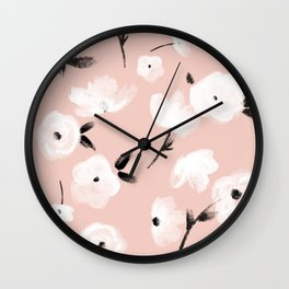 Brushed Florals Wall Clock