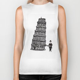 Tower of Pisa and a Chap Biker Tank