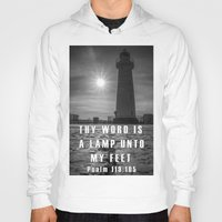 verse Hoodies featuring Bible verse - Donaghadee Lighthouse by cmphotography