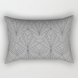 Art Deco in Black & Grey Rectangular Pillow
