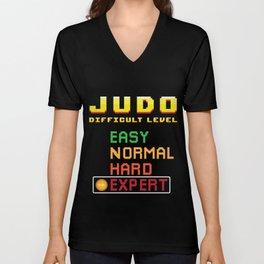 Judo Martial Arts Coach Console Expert Unisex V-Neck