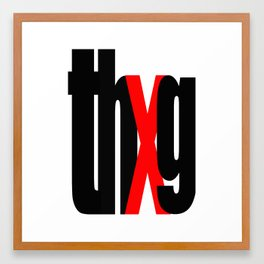 thUg_blk Framed Art Print