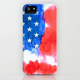 Watercolor flag of America iPhone Case