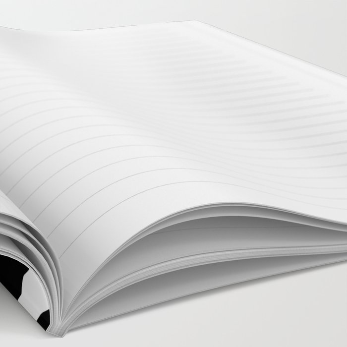 Bingo - black and white sprinkle retro modern pattern print monochromatic trendy hipster 80s style Notebook