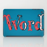 word iPad Cases featuring Word by greckler