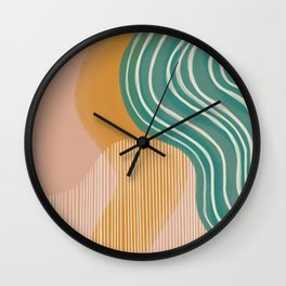 Morning Swim Wall Clock