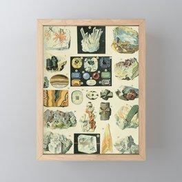 Vintage Minerals Chart Framed Mini Art Print