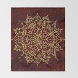 Deep Red & Gold Mandala Decke