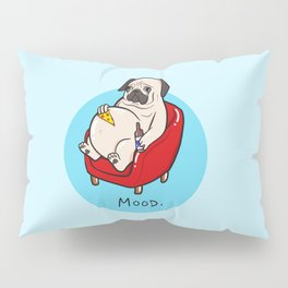 Pug Mood Pillow Sham