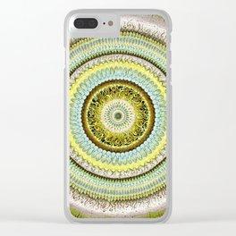 Tiger's Eye Mandala Clear iPhone Case