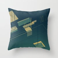 pool Throw Pillows featuring Pool by Maxime Chillemi
