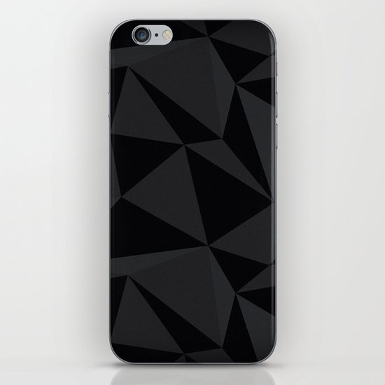 Triangular Black iPhone Skin
