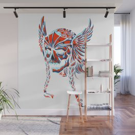 Death Flying Skull Wall Mural